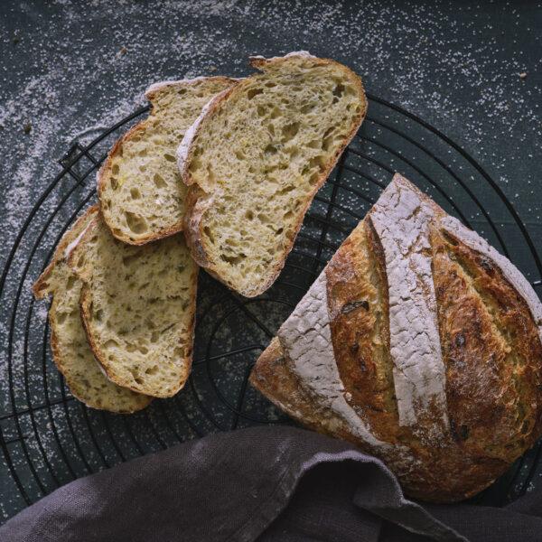 לחם בצל וכורכום